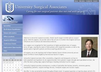 University+Surgical+Associates Website