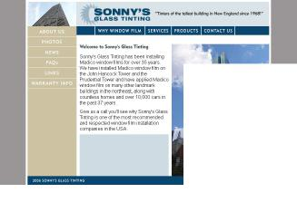 Sonny%27s+Glass+Tinting Website