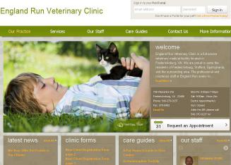 England+Run+Veterinary+Clinic Website
