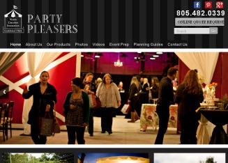Party+Pleasers Website