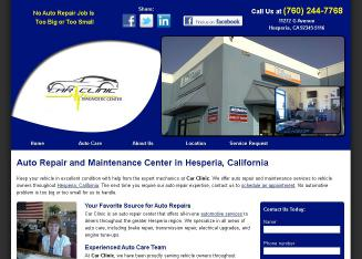 Car+Clinic Website