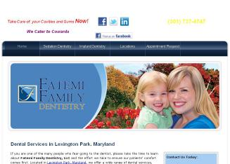 Fatemi+Family+Dentistry+LLC Website