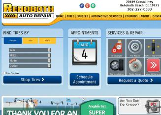 Rehoboth+Auto+Repair Website