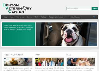 Denton+Veterinary+Center Website