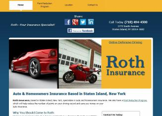 Roth+Insurance Website