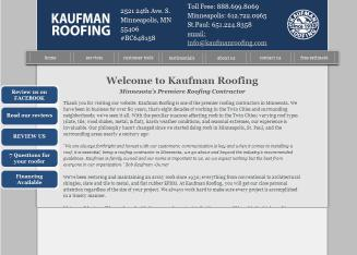 Kaufman+Roofing Website