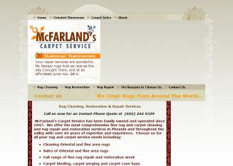 Mc+Farland%27s+Carpet+Service Website