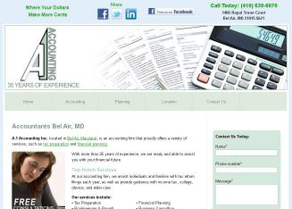 A-1+Accounting Website