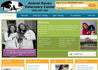 Animal+Haven+Veterinary+Center Website