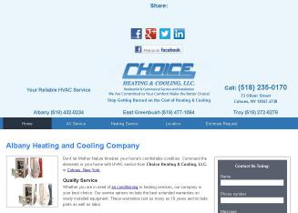 Choice+Heating+%26+Cooling+LLC Website