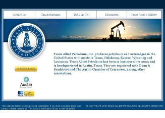 Texas+Allied+Petroleum%2C+Inc. Website