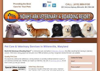 Noah%27s+Ark+Veterinary+%26+Boarding+Resort Website