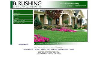 B+Rushing+Lawn+and+Landscaping+Inc. Website