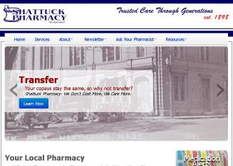 Shattuck+Pharmacy Website
