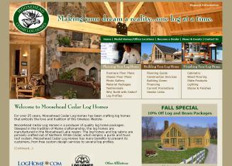 Moosehead+Cedar+Log+Homes Website
