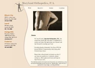 Maryland+Orthopedics+PA Website