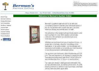 Berman%27s+Auction+Gallery Website
