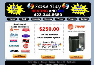 Same Day Heating and Air