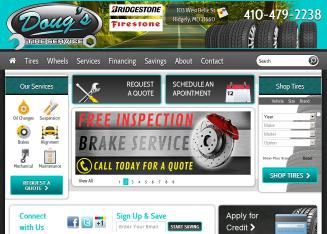 Doug%27s+Tire+Service Website