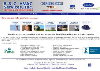 B+%26+C+HVAC+Services+INC Website
