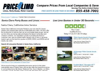 Beach+Harbor+Limousine Website