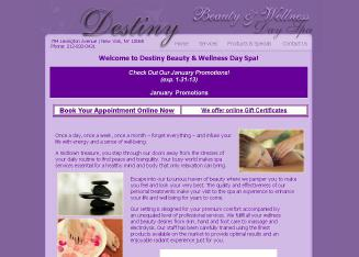 Destiny+Beauty+%26+Wellness+Day+Spa Website