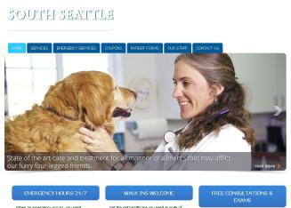 Seattle+Emergency+Veterinary+Hospital Website