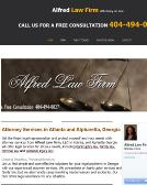 Alfred+Law+Firm Website