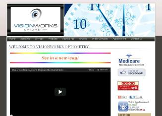 Visionworks+Optometry Website