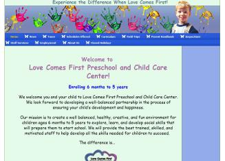 Love+Comes+First+Pre+School+%26+Child+Care+Center Website