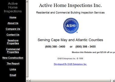 Active+Home+Inspection+Service Website