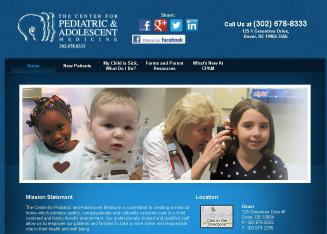 The+Center+for+Pediatric+%26+Adolescent+Medicine+PA Website