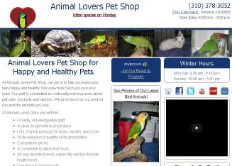 Animal+Lovers+Pet+Shop Website