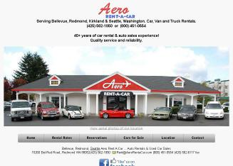 Aero+Rent-A-Car Website