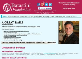Batastini+Orthodontics Website