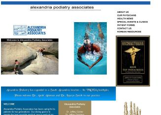 Alexandria+Podiatry+Associates Website