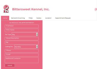 Bittersweet+Kennel%2C+Inc. Website