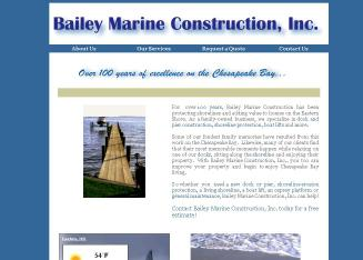 Bailey+Marine+Construction+Inc Website