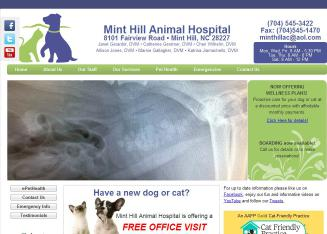 Mint+Hill+Animal+Clinic Website