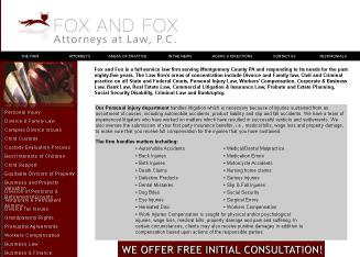 Fox+and+Fox+Attorneys+at+Law Website