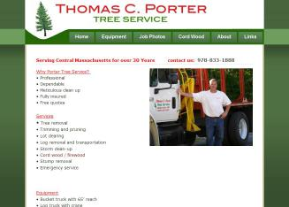 Thomas+C+Porter+Tree+Service Website