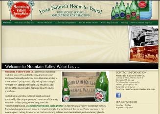 Mountain Valley Water Co From Hot Springs Arkansas