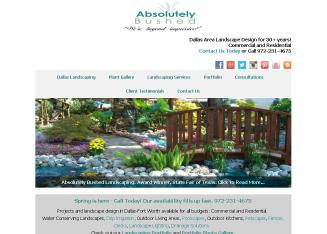 Absolutely+Bushed+Landscaping+Co Website