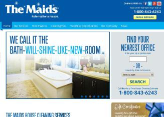 The+Maids+Home+Services Website