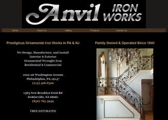 Anvil+Iron+Works Website