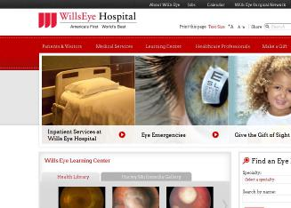 Wills+Eye+Hospital Website