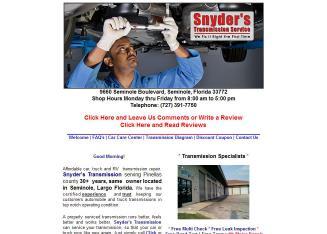 Auto Repair Seminole on Transmission In Seminole  Fl   9660 Seminole Blvd  Seminole  Fl