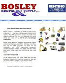 Bosley Rental Supply Inc