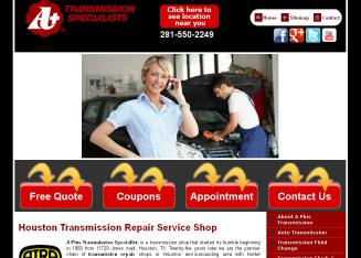 A+Plus+Transmission+Specialist Website
