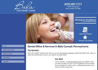 Bala+Oral+Health+Center Website
